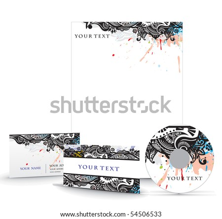 Business style template, for more templates of this type please visit my gallery. - stock vector