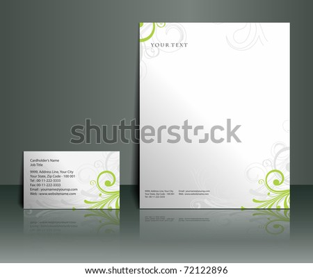 Business style templates, Vector illustration. - stock vector
