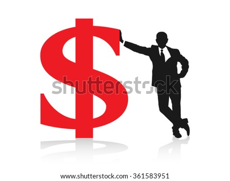 Business Success Achievement Finances Prosperity Wealth Fortune Vector Design - stock vector
