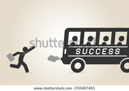 business success concept conquering adversity overcoming leadership challenge aspiration ambition motivation hurry up - stock vector