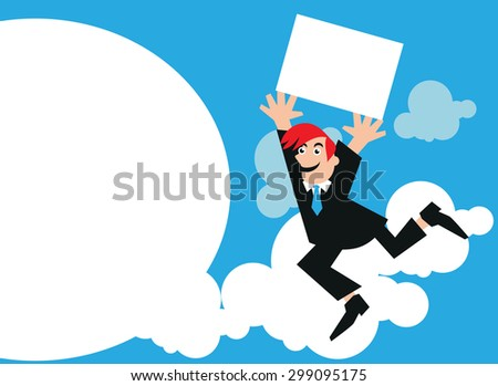business success happy businessman illustration
