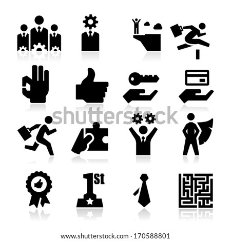 Business Success Icons  - stock vector