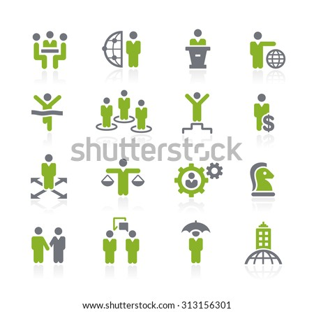 Business Success Icons // Natura Series - stock vector