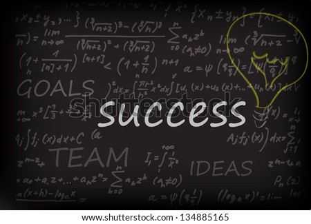 Business Success On Chalk Board - stock vector