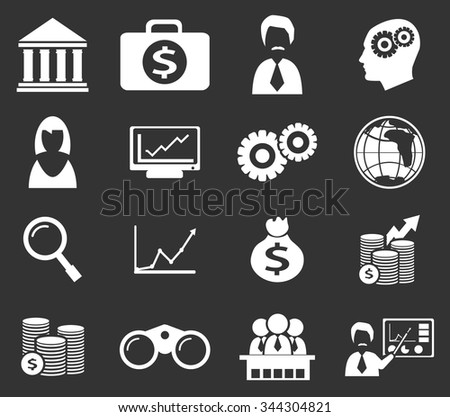 Business symbol for web icons - stock vector