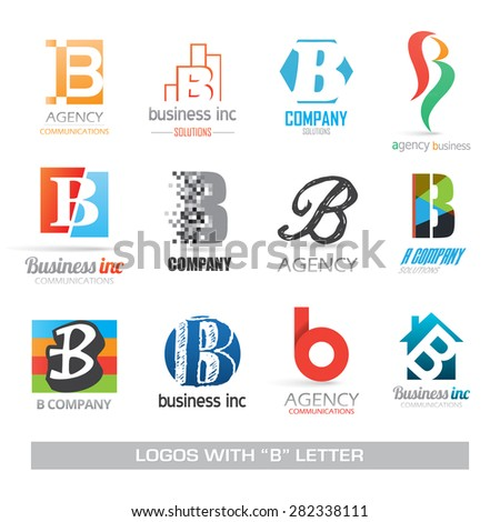 Business symbols corporate identity with letter B - stock vector