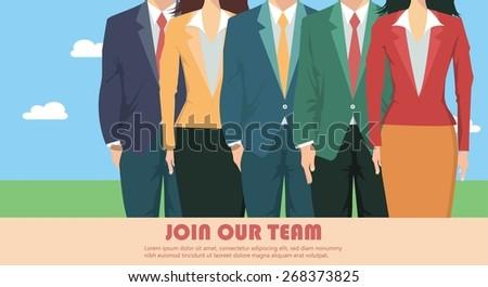 Business team presentation - stock vector