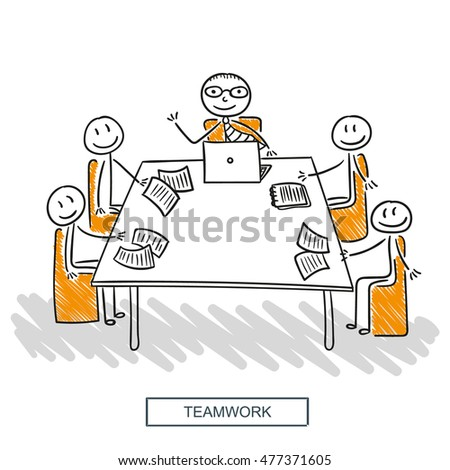 Business team, teamwork, our team, business meeting, business deal and agreement concept. Perfect template for your business. Vector graphic illustration