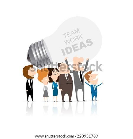 business team work having an idea - stock vector