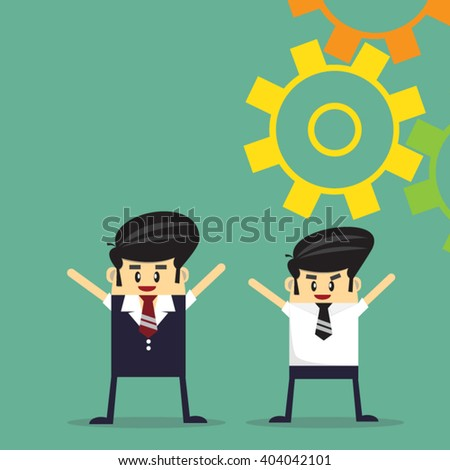 Business team work. success concept. - stock vector