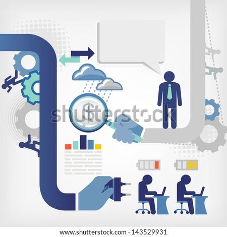 business teams - stock vector
