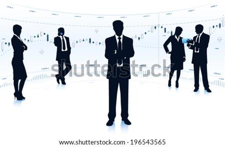 Business teamwork - stock vector