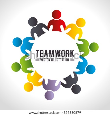 Business teamwork and leadership graphic design, vector illustration. - stock vector