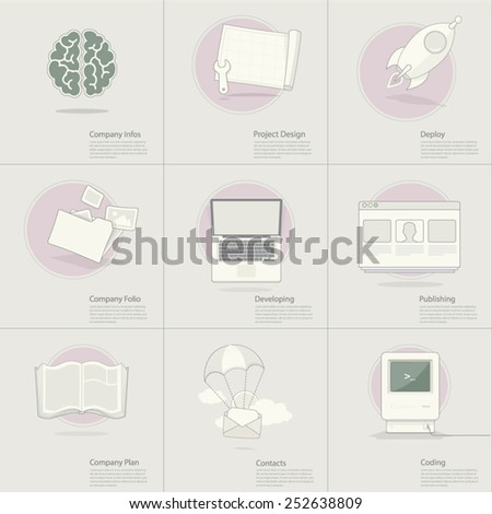 Business Teamwork concept icons - stock vector