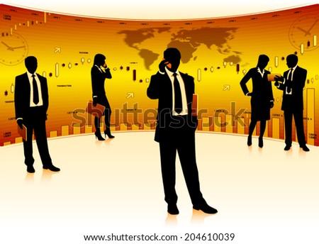 Business teamwork (EPS10 vector) - stock vector