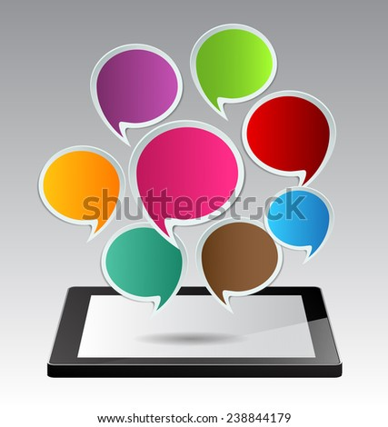 Business technology bubble speech template style. text box template for website computer graphic and internet.
