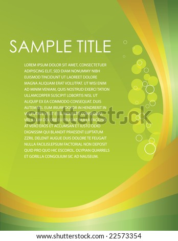 Business Template - stock vector
