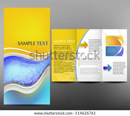 Business template, brochure - stock vector