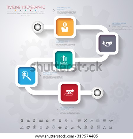 Business template. Can be used for workflow layout, banner, diagram, web design, infographic template.Vector/illustration. - stock vector