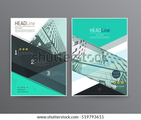 Business template for brochure, annmnual report, flyer or booklet. Abstract in imputermulticolored leaflet cover presentation in A4 size, abstract background of geometric vector layout, modern style