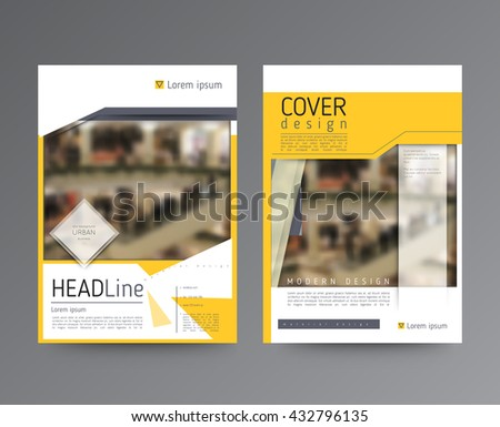 Business template for brochure, annual report, flyer or booklet. Abstract multicolored leaflet cover presentation in A4 size, abstract background of geometric vector layout, modern style - stock vector