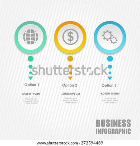 Business template. Vector illustration. Can be used for layout, banner, diagram, web design. - stock vector