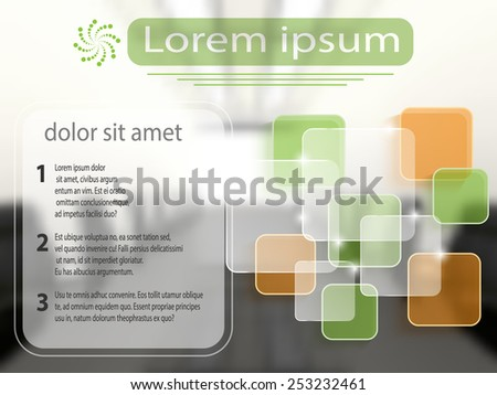 Business template with transparent layers. Vector eps10 - stock vector