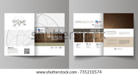 Business Templates For Bi Fold Brochure Magazine Flyer Booklet Or Annual Report
