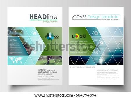 Business Templates Brochure Magazine Flyer Booklet Stock Vector Hd