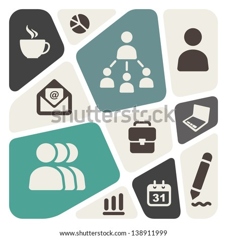 Business theme abstract background - stock vector