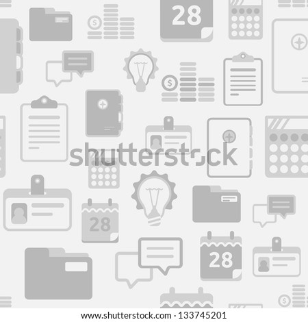 Business things seamless pattern