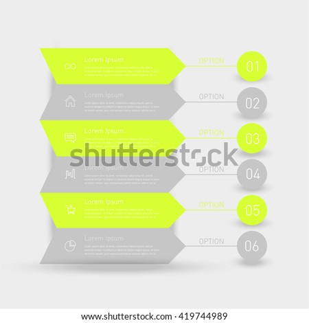 Business timeline element for Infographic.  - stock vector