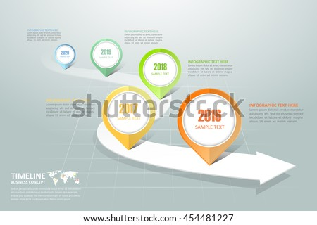 Business Timeline Infographic Template Can Be Stock Vector - Timeline infographic template