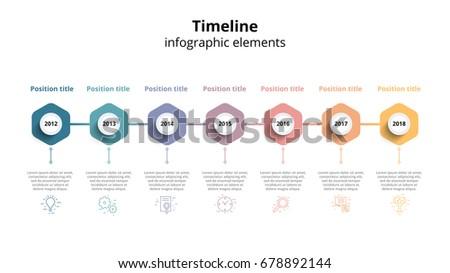 Business Timeline Workflow Infographics Corporate Milestones Stock ...