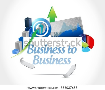 business to business graph sign concept illustration design graphic - stock vector