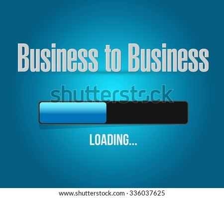 business to business loading bar sign concept illustration design graphic