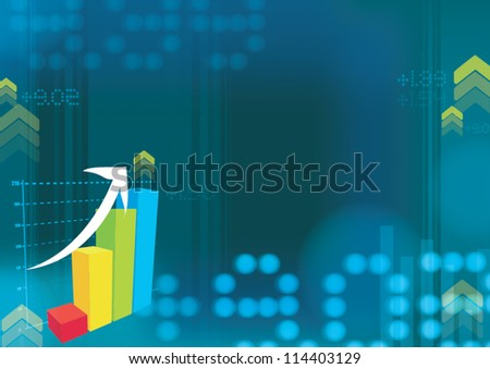Business trade background - stock vector