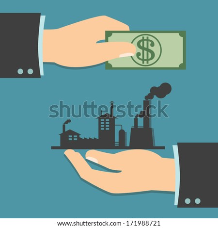 Business Trading, Business Trading or Acquisition of the existing Business - stock vector