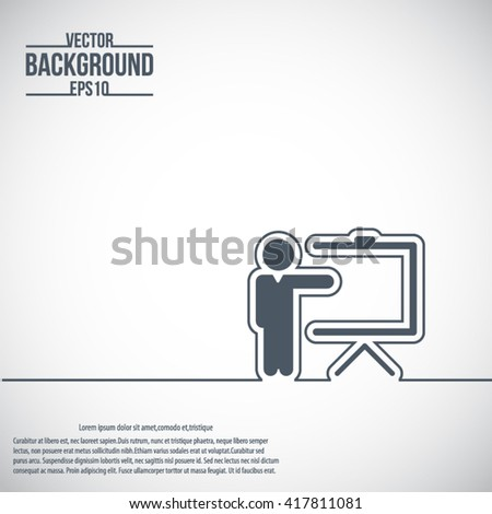 Business training -Abstract Creative concept vector background for Web and Mobile Applications, Illustration template design, business brochure, banner, presentation, poster, cover, booklet, document. - stock vector