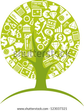 Business - tree 1 - stock vector