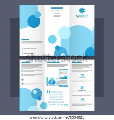 Business tri fold brochure template leaflet design stock vector business tri fold brochure template or leaflet design with blue circles flashek Gallery