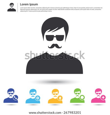Business user pictogram icon set