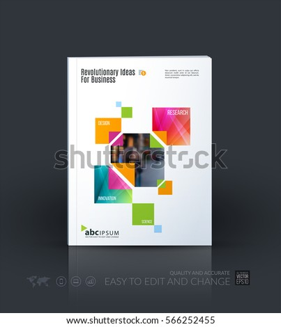 Modern Design Magazine cover magazine modern squares template business stock vector