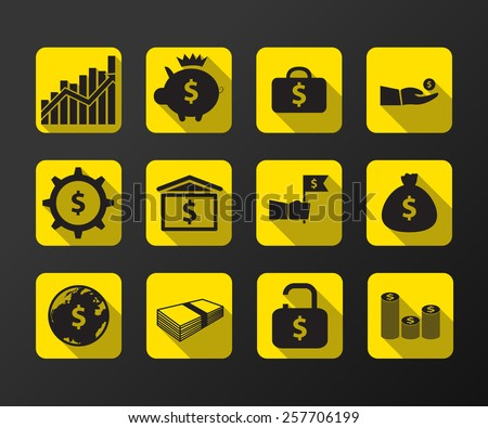 business vector icon., illustration. - stock vector