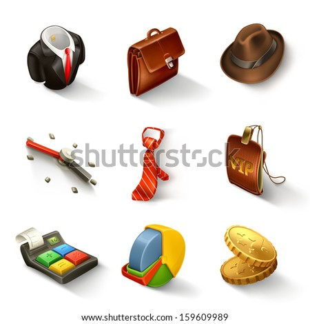 Business vector icon set - stock vector