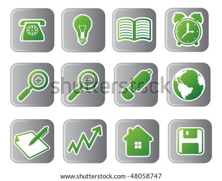 Business vector icon set - stock vector