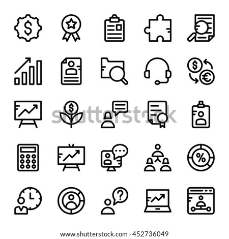 Business Vector Icons 4 - stock vector