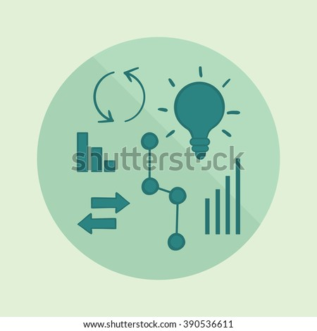 Business vector illustration. Graph icon. Chart icon. Diagrams isolated background. Business data market elements, dot, bar, pie, charts, diagrams, graphs. Business data market elements flat design. - stock vector