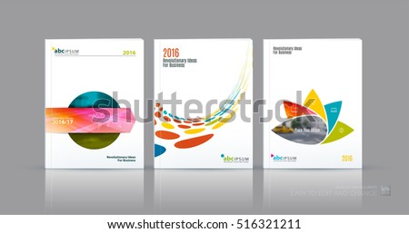 science brochure template - business vector set brochure template layout stock vector