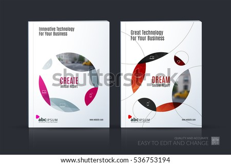 Business Vector Set Brochure Template Layout Stock Vector